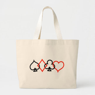 Card Symbols  Intertwined Large Tote Bag