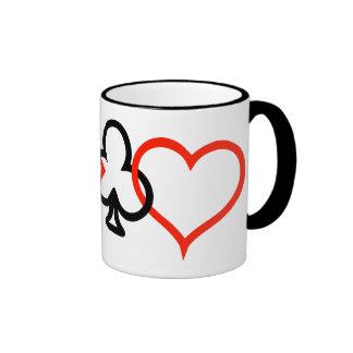 Card Symbols  Intertwined Ringer Coffee Mug