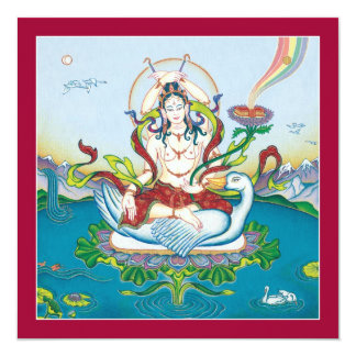 """CARD Tara Protecting from Poisons, square+envelope 5.25"""" Square Invitation Card"""
