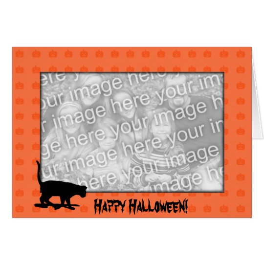 Card Template - Black Cat Halloween