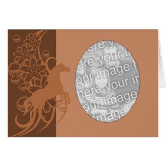 Card Template - Decorative Horse