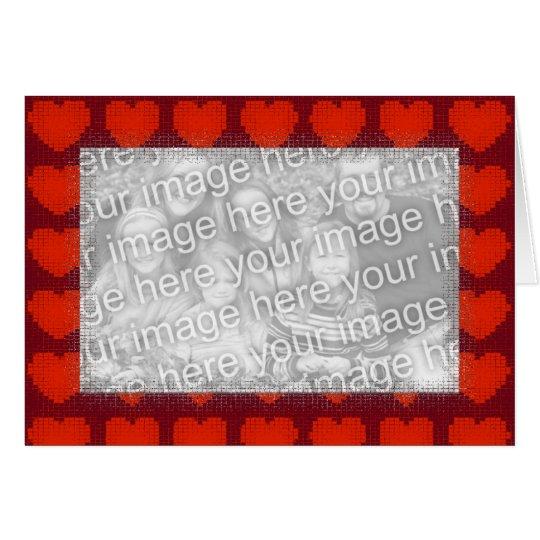 Card Template - Love Heart Border