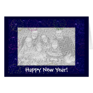 Card Template - New Year Fireworks