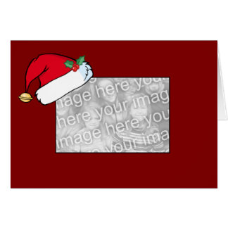 Christmas border template greeting cards zazzle card template santa hat border pronofoot35fo Image collections