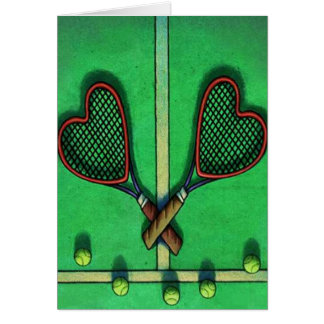 Card ~ Tennis Players ~ Tennis Begins With Love!