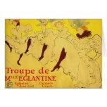 Card:   Toulouse-Lautrec - Dance Troupe