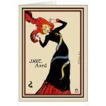 Card: Toulouse Lautrec - Jane Avril