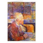 Card:  Toulouse-Lautrec Portrait of Van Gogh