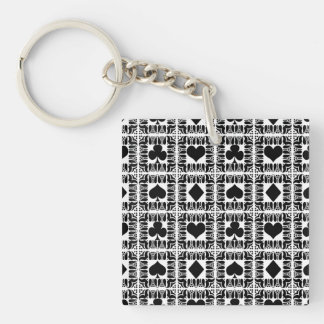 Card Tricks 8 Double-Sided Square Acrylic Keychain