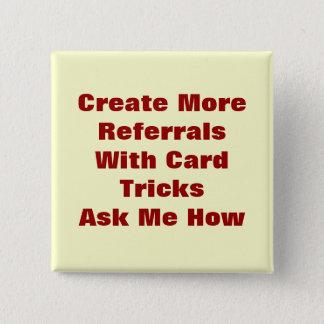Card Tricks Pinback Button