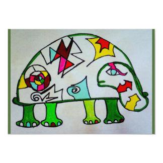 card turtle puzzle autism artist painting