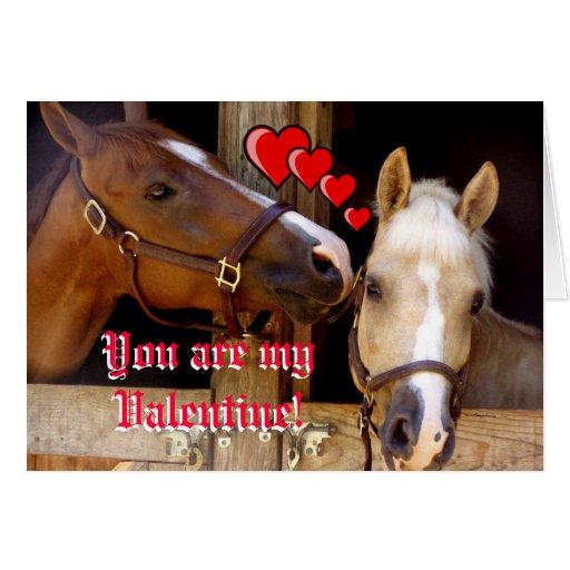 Card - valentine horses
