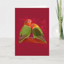 Valentine's Day Lovebirds Card