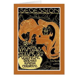 Card: Vienna Secession Art Exhibition - Moser Card