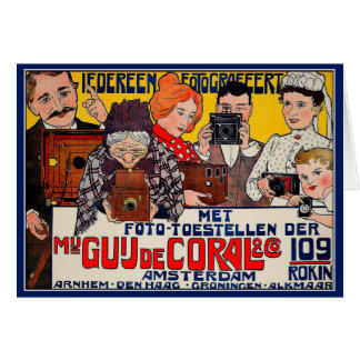 Card:  Vintage Affiche Advertising - Cameras 1901 Card