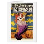 """Card: Vintage Art  -  """"Bieres de la Meuse"""""""