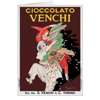 Card: Vintage Art - Cioccolato - Chocolates Card