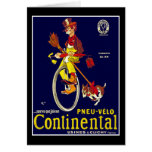 Card: Vintage Bicycle Ad:  Continental Tires