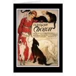 """Card:  Vintage Steinlen """"Clinique Cheron"""" Card"""