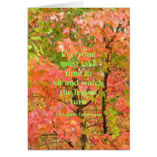 "card, ""Watching the Leaves Turn"" Fall Color Card"