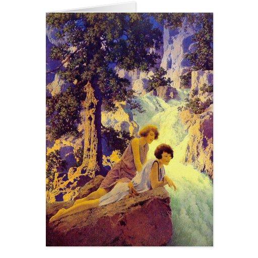 Card:  Waterfall - Maxfield Parrish