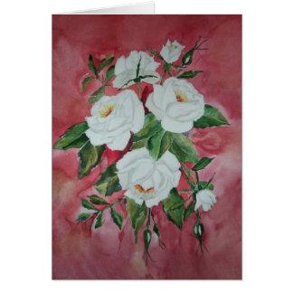 Card White roses