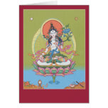 CARD White Tara - with explanation and mantra