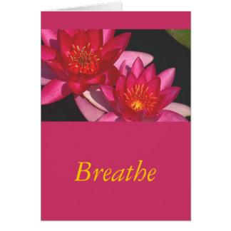 "card, ""Wishing You A Return Of Peace & Calm "" Card"