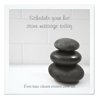 """Card with Balancing Stones 5.25"""" Square Invitation Card"""