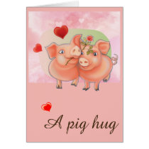 Card with love pigs