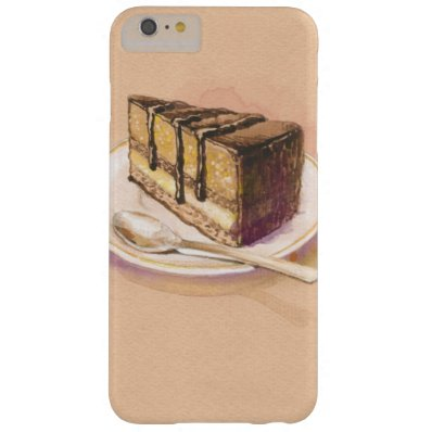 Card with painted watercolor cake barely there iPhone 6 plus case