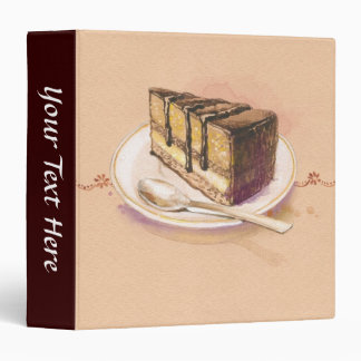 Card with painted watercolor cake binder