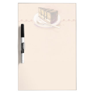 Card with painted watercolor cake dry erase board