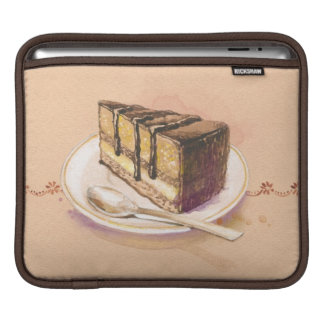 Card with painted watercolor cake sleeve for iPads