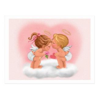 carda a niños de los ángeles tarjeta postal