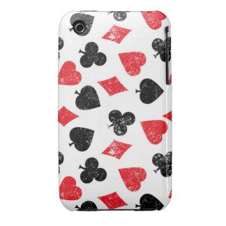 Carda la casa del póker del diamante del corazón iPhone 3 Case-Mate cobertura