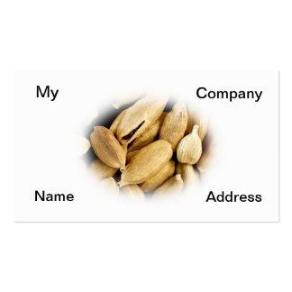 Cardamomo, una especia india tarjetas de negocios