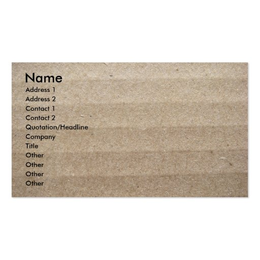 Cardboard and Packing Peanuts Double-Sided Standard Business Cards (Pack Of 100)