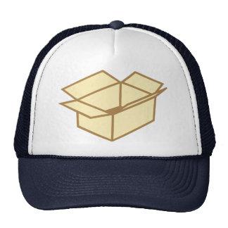 Cardboard box trucker hats