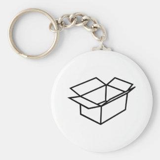 Cardboard box keychain