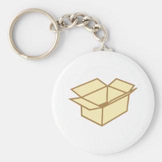 Cardboard box keychains