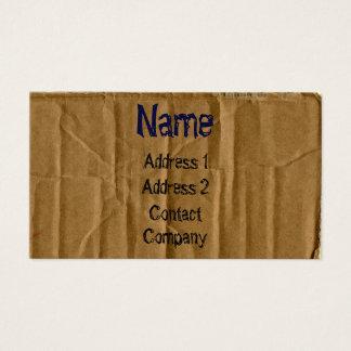 Cardboard Business Card