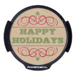 Cardboard Craft Style Happy Holidays Decal LED Window Decal