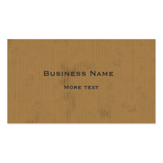Cardboard Design Business Card