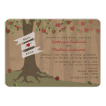 Cardboard Inspired Apple Orchard Wedding Invite