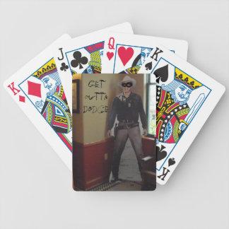 Cardboard Masked Sheriff Dodge City Poker Cards