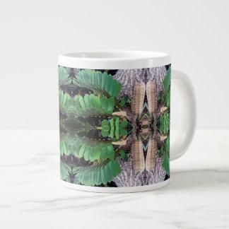 Cardboard Palm Pattern Large Coffee Mug