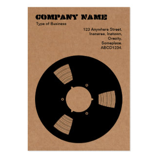 Cardboard Recording Tape Spool Large Business Card