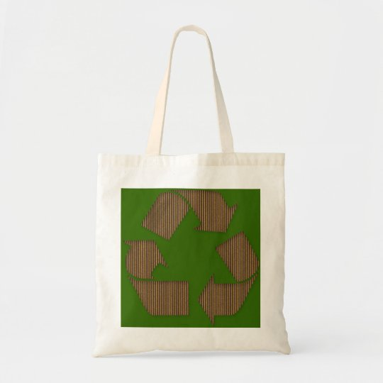 Cardboard Recycle Symbol Bag