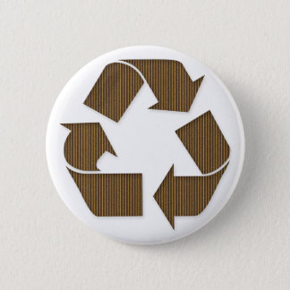 Cardboard Recycle Symbol Button